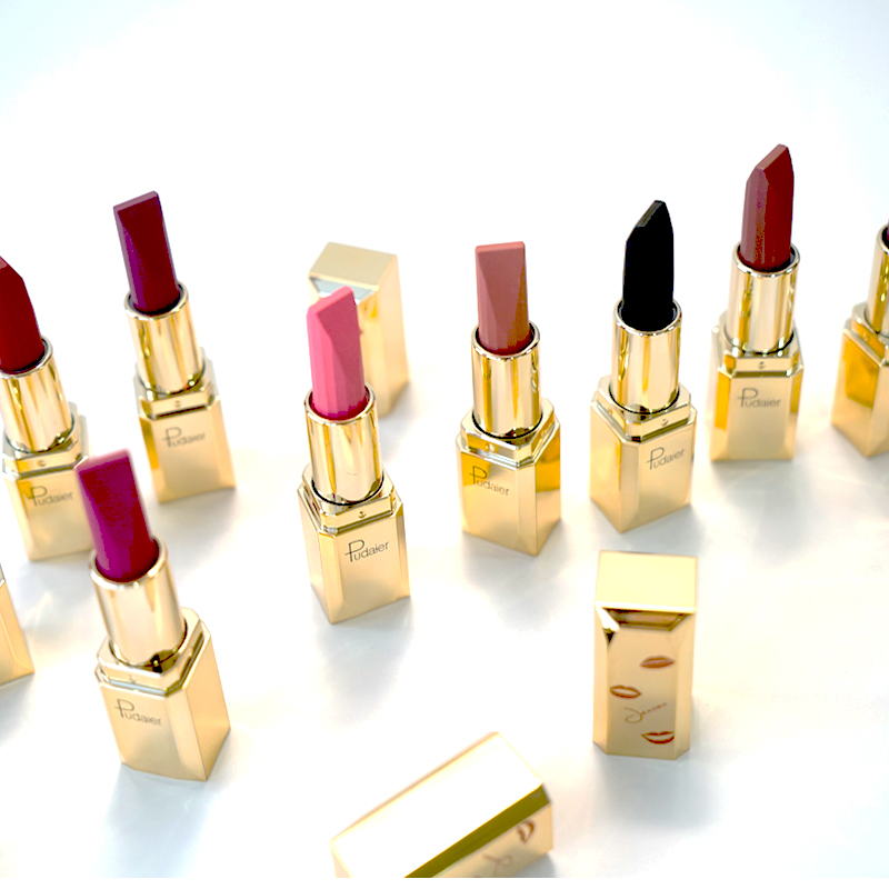 Pudaier 26 Colors Luxury Long Lasting Lipsticks Make Up Matte Lipstick Waterproof Tint Lip Gloss Batom Matte Good Texture Mate in Lipstick from Beauty Health