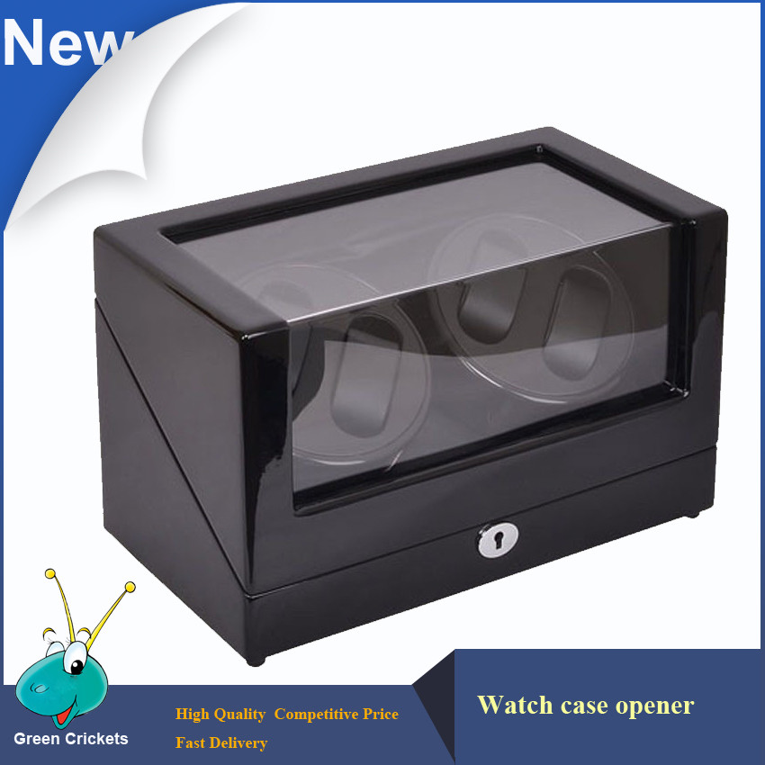 High Glossy Suface Daul Channel Automatic Watch Winder,Adaptor/AAA Battery 5 Modes Cherry Wooden automatic Watch Winder ultra luxury 2 3 5 modes german motor watch winder white color wooden black pu leater inside automatic watch winder