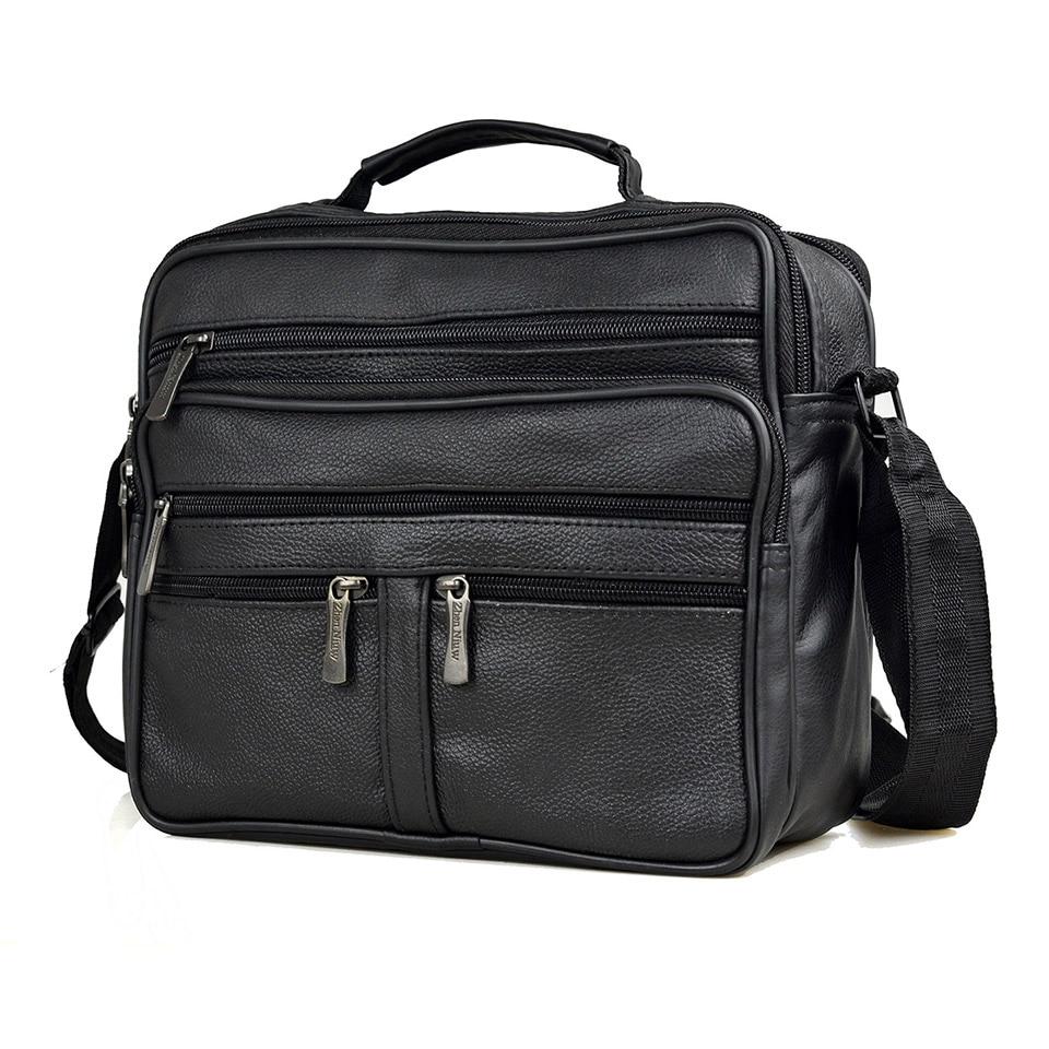 Men Genuine Leather Bag +Pu Leather Handbags Large Size Men's Cowhide Leather Messenger Bags Male Zipper Shoulder Bag