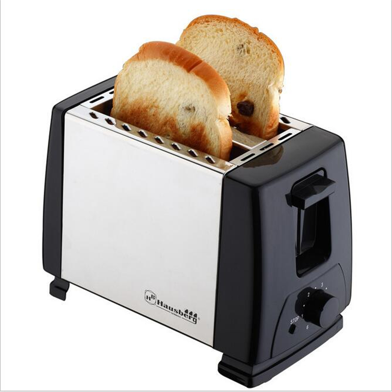 6 Gear Household Automatic 304 Stainless Steel 2 Slices Bread Toaster Machine With EU Plug For Breakfast 220V 750W cukyi 2 slices bread toaster household automatic toaster breakfast spit driver breakfast machine