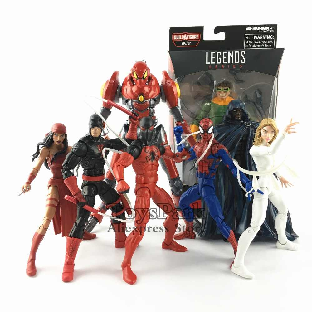 "Marvel Legends 2018 SP // dr Onda BAF Construir Action Figure 6 ""Doc Ock Aranha Escarlate da Casa do Homem De M Elektra Manto Punhal"
