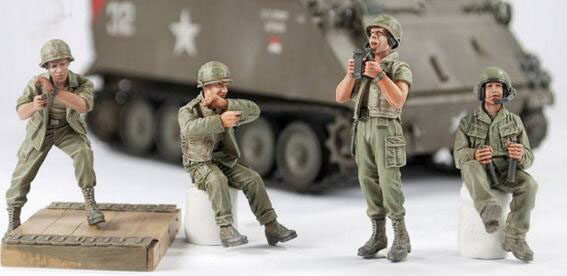 <font><b>1</b></font>/<font><b>35</b></font> <font><b>Resin</b></font> Kits <font><b>Vietnam</b></font> <font><b>War</b></font> US Army 4pc/set (only 4pcs <font><b>figures</b></font>) image