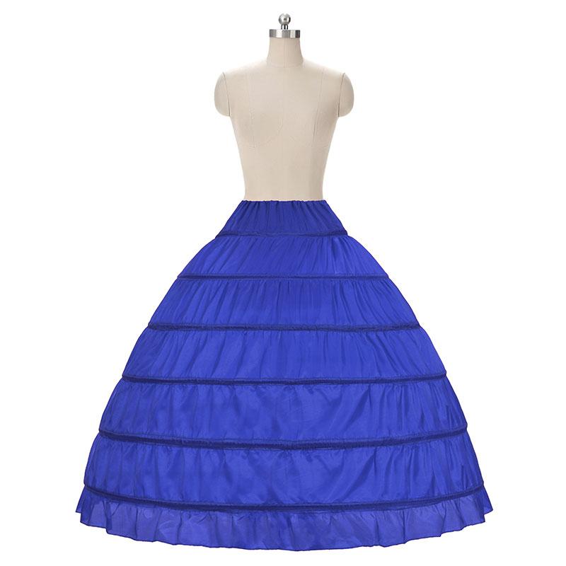Fustanet e nuseve Ball Fustan Petticoat White 6 Hoops Underskirt - Aksesorë dasme - Foto 1