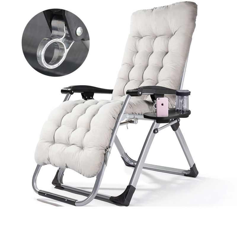 Luar Ruangan Padded Zero Gravity Lounge Kursi Teras Dilipat Dapat Disesuaikan Reclining dengan Dudukan Cangkir untuk Luar Ruangan Yard Porch
