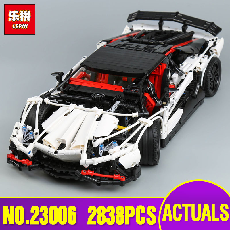DHL Lepin 23006 Genuine MOC Technic Series The Super Racing Car Set MOC-3918 Building Blocks Bricks Educational legoing Toy GIFT lepin 23006 2838pcs technic series the super racing car set moc 3918 model building block brick diy toy for children gift