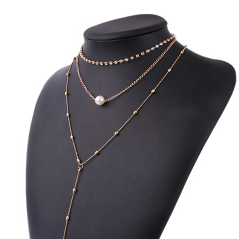 Boho Multi Layer Gold Chain Star Choker Necklace for Women