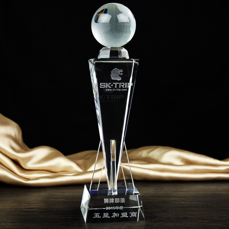 27cm High-grade crystal cup trophy football basketball earth golf tournament trophies world cup in south africa world cup model european soccer cup trophy custom football fans articles