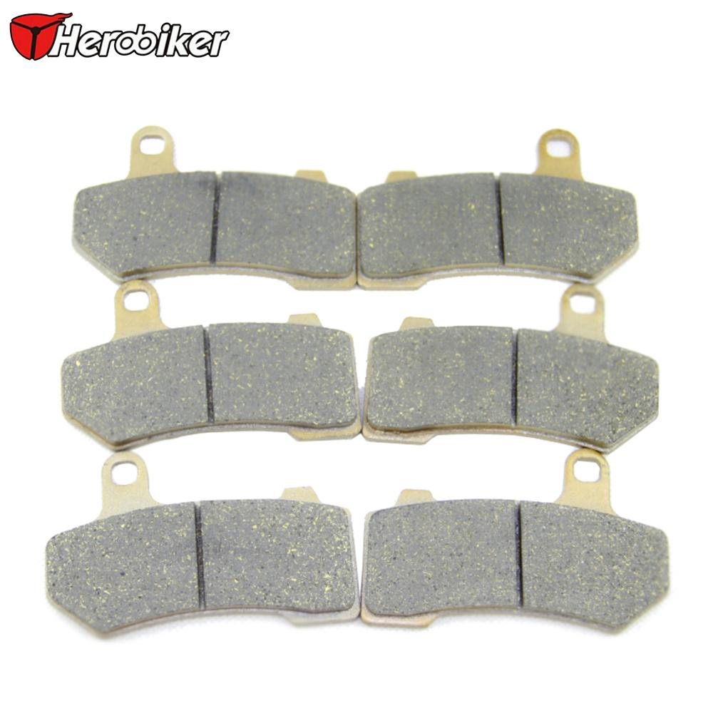 Brake Disks Selfless Herobiker Sintered Copper Motorcycle Parts Front & Rear Brake Pads Calipers For Flhx Street Glide Vrscr Street Rod Vrsca V-rod Motorbike Brakes