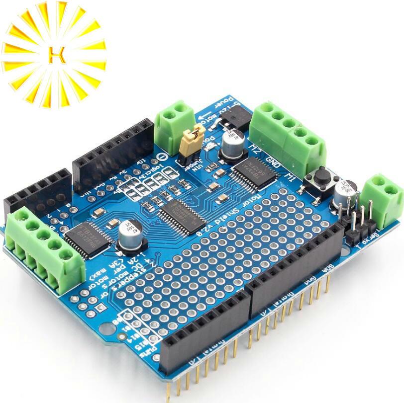 La CII I2C TB6612 Mosfet Motor paso a paso PCA9685 PWM servocontrolador escudo V2 para Arduino Robot PWM Uno Mega R3 reemplazar L293D conector