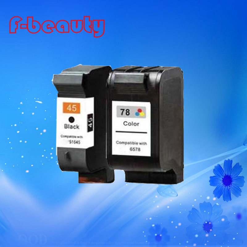 Free shipping high quality ink cartridge compatible for HP45 78 HP 930C 960C 970C 1180C 1280C large capacity free shipping compatible ink cartridge for hp 60xl bk cc641wn and for hp60xl c4635 color cc644wn c4640 c4650 c4680 printe