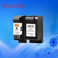 Free shipping high quality ink cartridge compatible for HP45 78 HP 930C 960C 970C 1180C 1280C large capacity