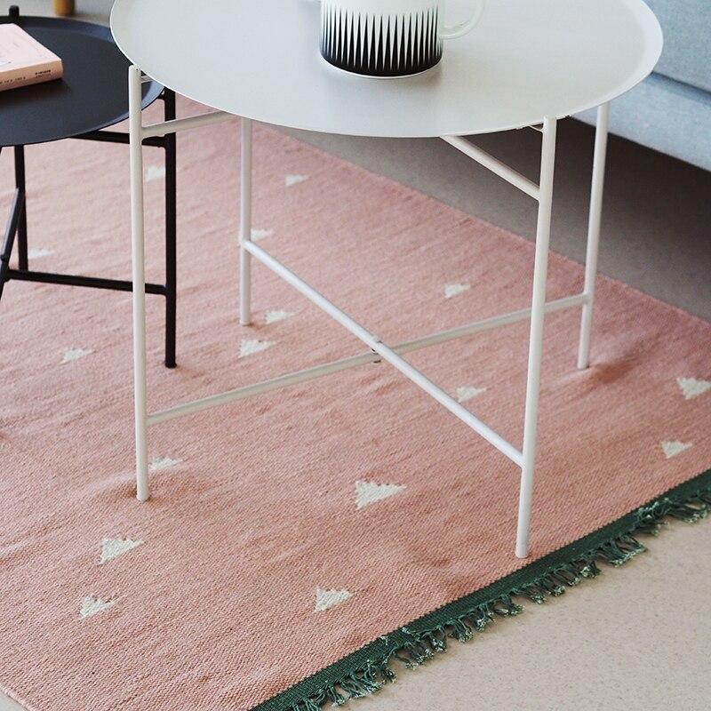 100% wolle Kelim Teppich geometrische Böhmen Indische Teppich plaid rosa grün striped Moderne zeitgenössische design Iran Nordischen stil