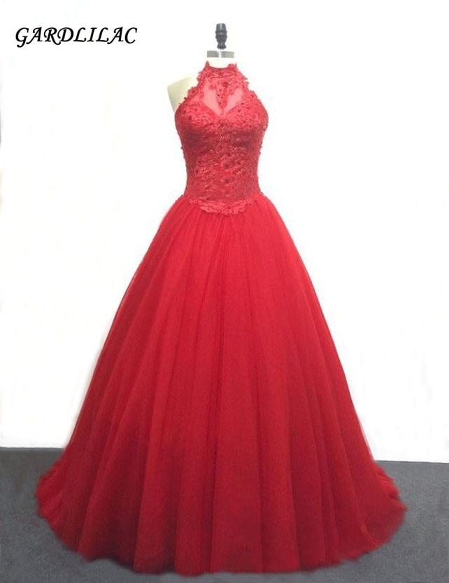 Bollklänning Vit Bröllopsklänning Tulle med - Särskilda tillfällen klänningar