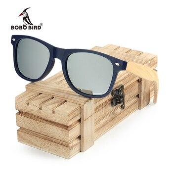 aed9041684 BOBO BIRD gafas de sol de madera de bambú para mujer gafas de sol de madera  polarizadas Retro para hombre Envío Directo