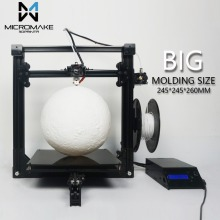 2017 Micromake 3D Printer New Micromake C1 with H-botXZ Structure Large Printing Size 245*245*260mm DIY Kit with gift