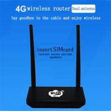 KuWFi Unlocked 300Mbps Wifi Routers 4G LTE CPE Router with LAN Port Support SIM card and Europe/US/Asia/Middle East/Africa