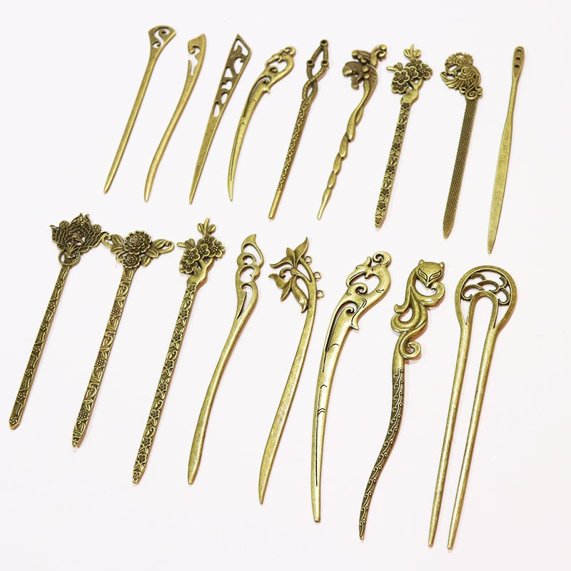HTB1bRvmOpXXXXbcXFXXq6xXFXXXn Elegant Bronze Vintage Hair Stick Pin For Women - 17 Styles