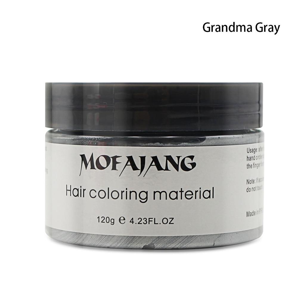 Temporary Hair Dye Cream Silver Grandma Grey Hair Color Wax Mud