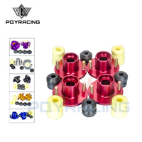 PQY RACING 4pc Lot SUSPENSION SHOCKS TOP HAT For HONDA CIVIC 88 00 SUSPENSION SHOCKS TOP