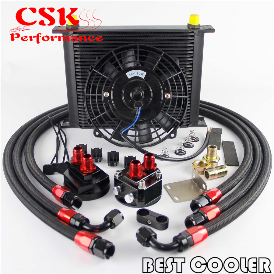 small resolution of 30 rows an8 engine oil cooler 7 electric fan filter relocation kit