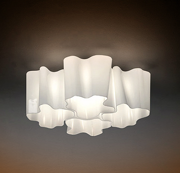 Logico Quadruple Nested Ceiling Light By Michele de Lucchi Ceiling Lamp Micro Lighting
