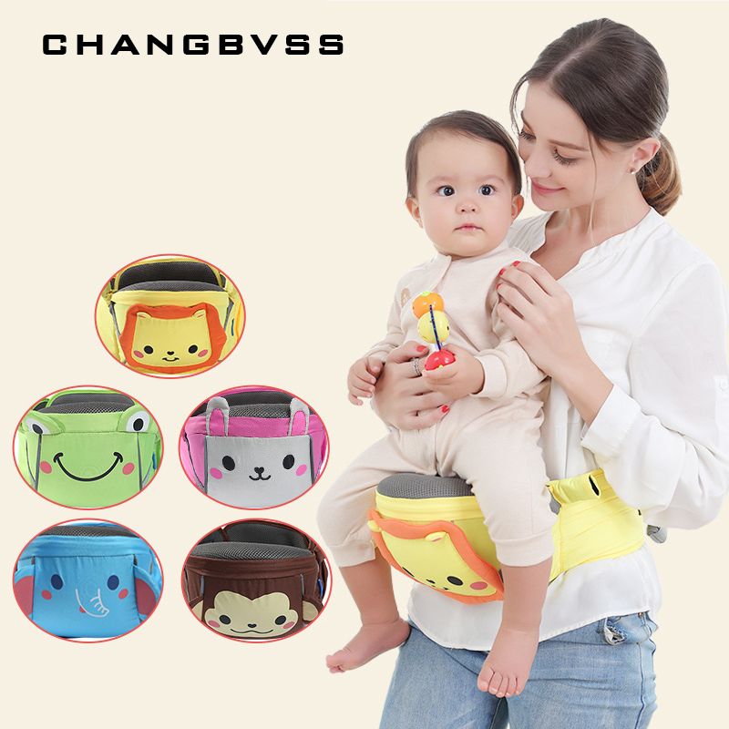 Cartoon Printed Baby Carrier Waist Stool Toddler Baby Hold Waist Belt Infant Hipseat Mochila Infantil Baby Sling Porte Bebe