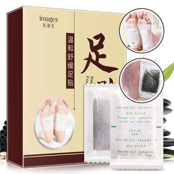 10pcs Tradition Chinese Medicine Detox Foot Patch Bamboo Vineger Wormwood Improve Sleep Slimming Foot Care Pad Skin Care