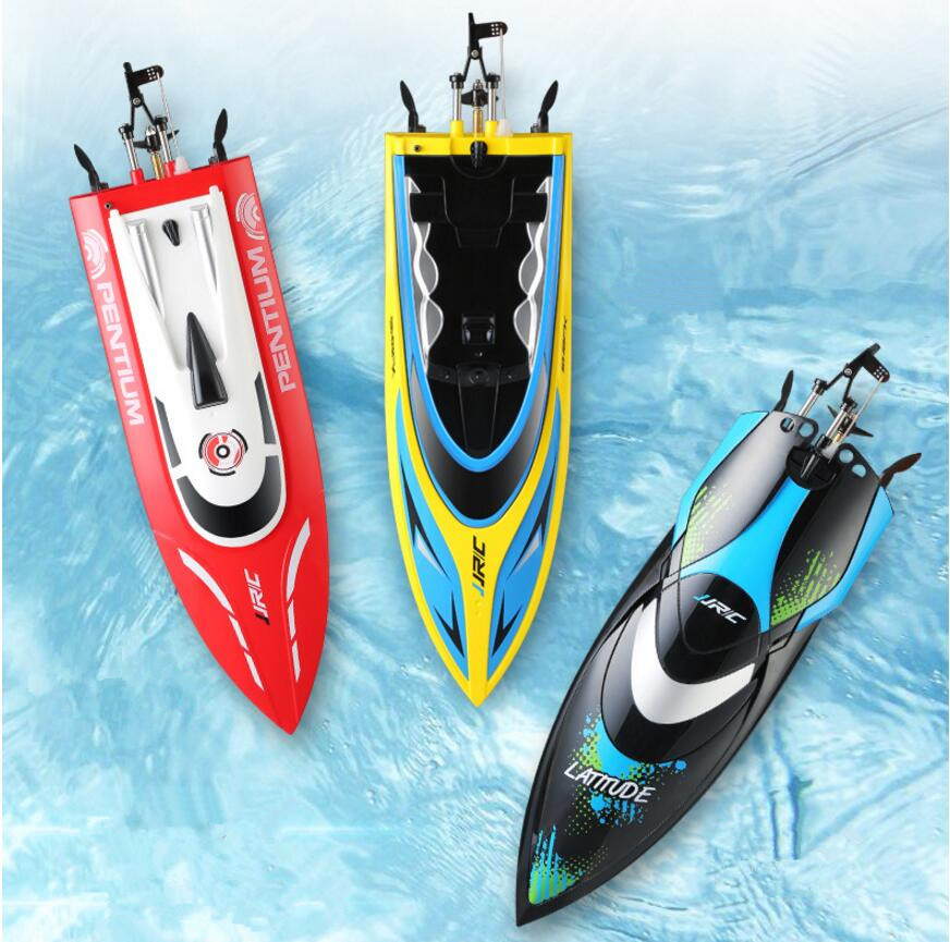 Water Toy 2.4G Remote Controlled 180 Degree Flip 25KM/H High Speed Electric RC Racing Boat for Pools,Lakes and Outdoor Adventure
