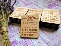 Прекрасный календарь для пар, набор магнитов, персонализированные приглашения, свадебные подарки для гостей, деревянные Свадебные сувенир...