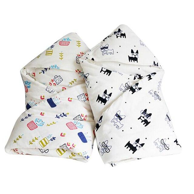 High Quality Autumn Winter 87X85cm Carton 100% Cotton Newborn Supplies Baby Child Blanket Thicken Neonatal Swaddle