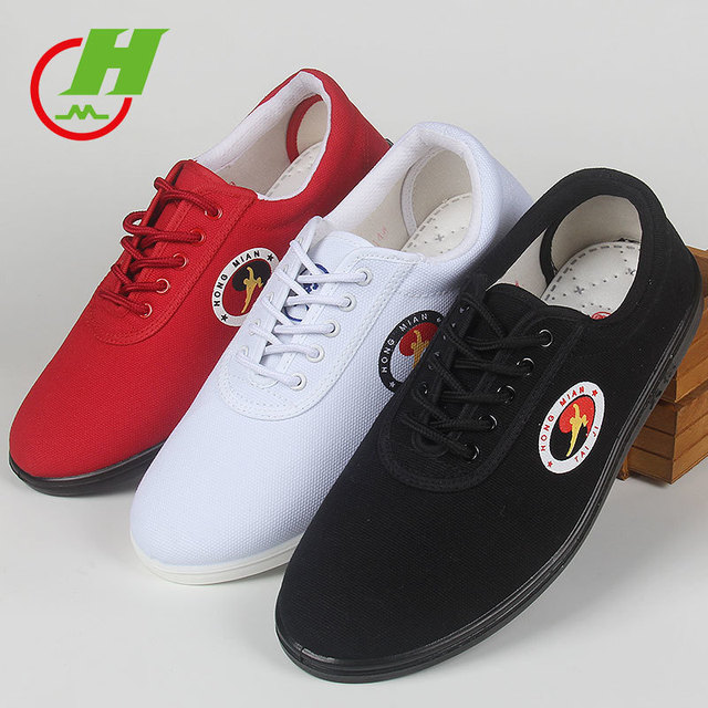 9fc8c50d8 Hot Leasure Canvas Tai Chi shoes Martial Art Shoe, Practice Taiji Morning  Exercises Bottom Kungfu shoe