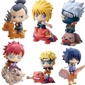 Image 2 - 6 teile/satz Pop Naruto Sasuke Uzumaki Kakashi Gaara Action Mit Halterungen Figuren Japan Anime Sammlungen Geschenke Spielzeug WX171