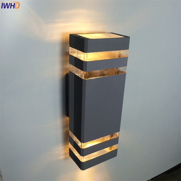 IWHD Outdoor Lighting LED Wall Light Blacony Yard Porch Garden Lights Outdoor Wall Lamp Waterproof IP65 Exterior Buitenlamp