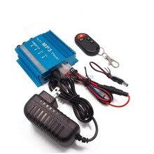 Motocicleta Alarma antirrobo Remoto Inalámbrico Altavoz tarjeta TF Radio FM reproductor de MP3 USB AUX audio Estéreo Amplificador de Coche subwoofer