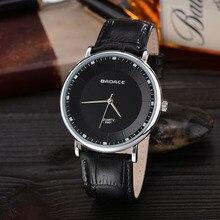 Trendy Classic Hombres Dial Redondo Vestido Relojes Masculinos Reloj de Cuarzo Analógico Con Correa de Cuero De Imitación 2016 Relojes Hombre Nuevo