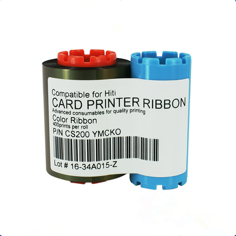compatible ribbon CS-2 YMCKO 400 Images Ribbon for hiti CS200 CS200e CS220 card printer