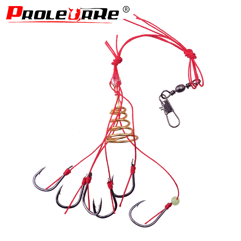 1Pcs Fishing Hooks Fishing Tackle Monsters With Six Strong Carbon Hook Steel Stainless Steel Carp Spherical Explosion Hooks Tool