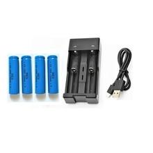 4 PCS ICR14500 AA 1200 mAh 3.7 v Baterias de íon li recarregável lanterna led Flat Top Bateria + 2 Slot Carregador USB 18650 Carregador