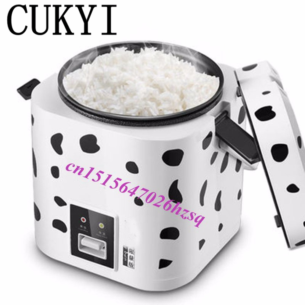 CUKYI 1.2L Portable electric cooker rice cooker used in house or car enough for 1-2 persons cukyi 270w household electric rice machine keep warm double layers multi purpose rice cooker