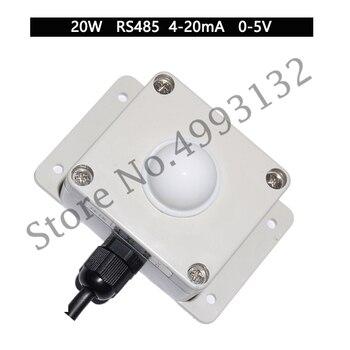 RS485 Illuminance Sensor Current Illuminance Meter, Voltage Illuminance Transmitter Can Be Connected to PLC Configuration
