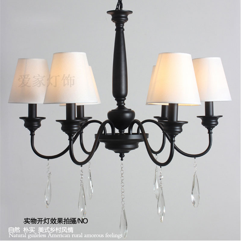A1 The Nordic American country Iron Chandelier Retro Modern living room lamp lamp bedroom dining simple European shippin american creative personality features simple and warm bedroom dining room chandelier retro country iron chandelier