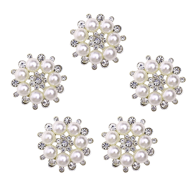 12mm CLEAR ACRYLIC RHINESTONE FLOWER CLUSTER SEWING CRAFT SHANK BUTTONS