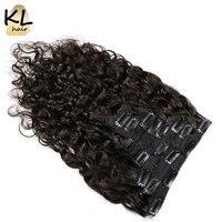 KL Hair Natural Wave Brazilian Virgin Hair Clip In Human Hair Extensions Natural Color Hair Clip