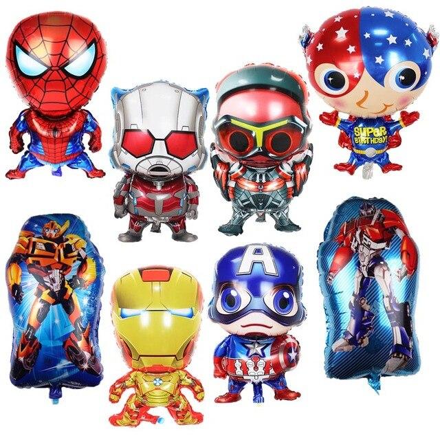 1 Pcs Balões Folha Spiderman Hulk Os Vingadores Super Herói Brinquedos Balões da Festa de Aniversário Balão de Hélio 3D Herói dos desenhos animados Do Miúdo decorações