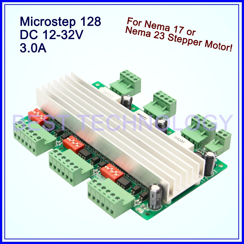 3axis Cnc Driver Board 3a 12 32vdc 128 Microstep Stepper