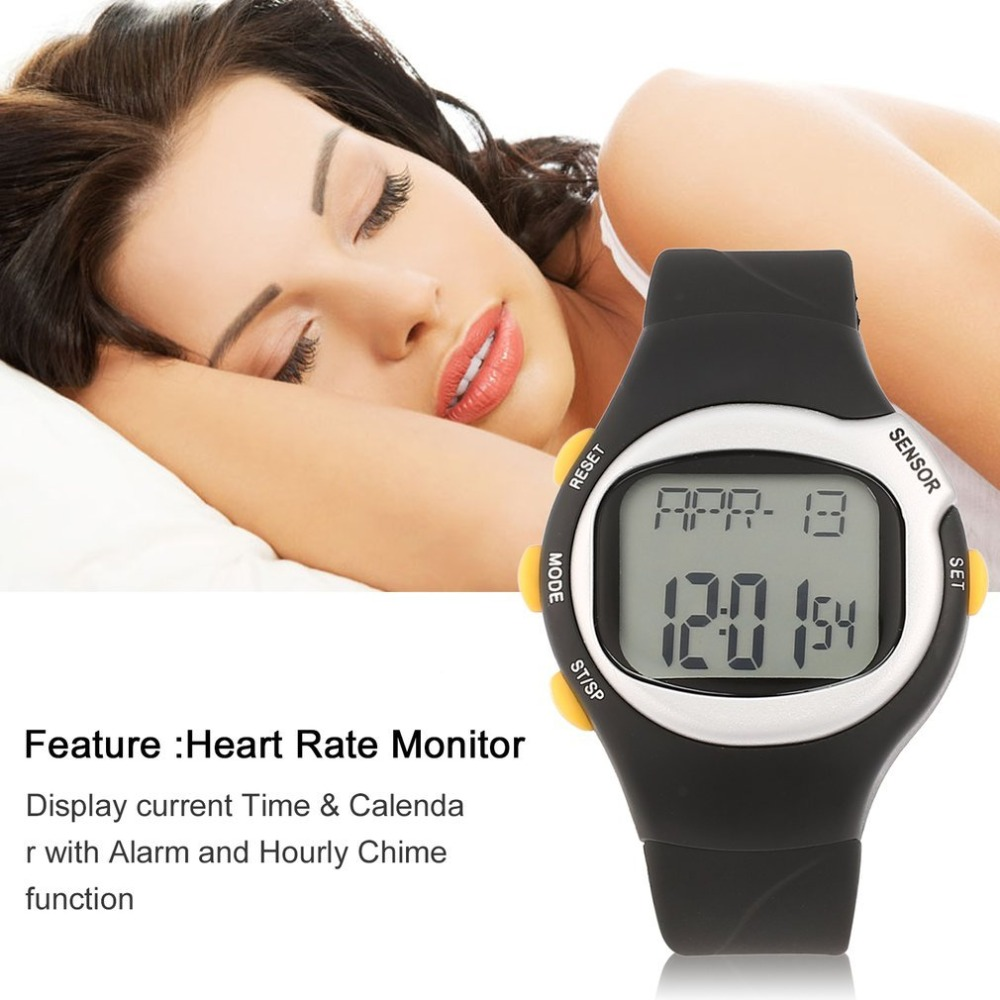 Pulse Heart Rate Monitor Wrist Watch Calories Counter Sports Fitness Exercise