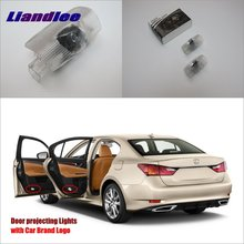 Liandlee Car Courtesy Doors Lights For Lexus GS350 GS400 GS430 GS450 GS460 Brand Logo Projector Welcome Light Ghost Shadow Lamp 2pcs заднего ствола struts gs300 lexus 05 07 05 12 gs350 06 12 gs430 gs450h 07 11 08 212 gs460 6654 64530 0w090