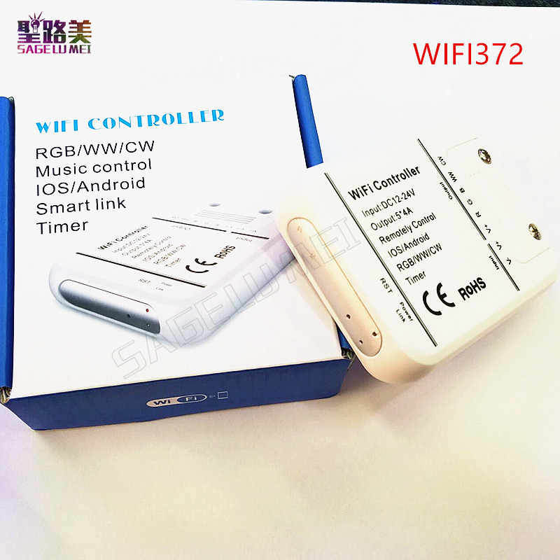 Wifi UFO RGB RGBW LED controller RF Remote By Magic Home Phone WIFI  controller Control iOS Android for 5050 3528 LED Strip Light