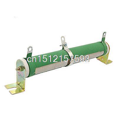 100W 10 Ohm 5% Variable Resistor Wirewound Rheostat 100w 300 ohm 5% aluminum screw tabs resistor gold tone