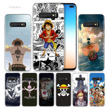 One Piece Case for Samsung Galaxy S8 S9 S10 5G S10e S7 Note 8 9 10 J4 J6 Plus J5 J8 2018 J3 Silicone Caso Anime Phone Bags Coque(China)